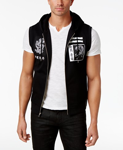 INC International Concepts Men's Hooded Vest, Created for Macy's