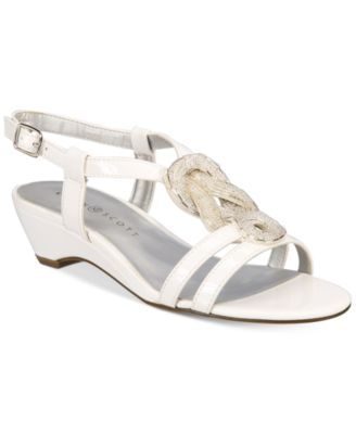Image of Karen Scott Clemm Wedge Sandals, Created for Macy's