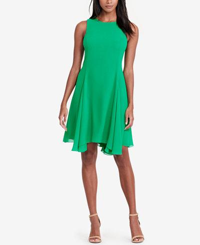 Lauren Ralph Lauren Georgette A-Line Dress