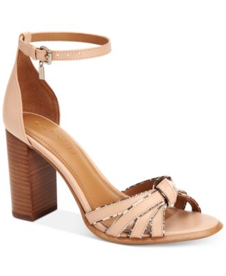 coach usa outlet sale gpm0  COACH Kiki Block-Heel Sandals