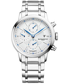 Baume & Mercier Men's Swiss Automatic Classima Stainless Steel Bracelet Watch 42mm M0A10331