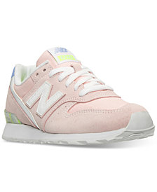 New Balance Women's 696 Striped Casual Sneakers from Finish Line