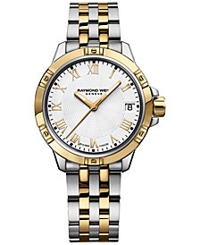 RAYMOND WEIL Women's Swiss Tango Two-Tone PVD Stainless Steel Bracelet Watch  30mm 5960-STP-00308