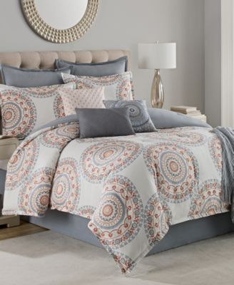 suzanne reversible 10pc cotton comforter sets