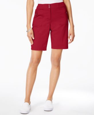 Image of Karen Scott Ribbed-Waistband Bermuda Shorts, Only at Macy's