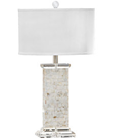 Regina Andrew Design Crystal Mother of Pearl Column Table Lamp