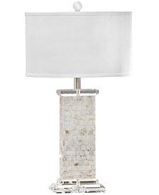 Regina Andrew Design Crystal Mother of Pearl Column Table Lamp