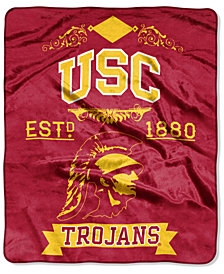 Northwest Company USC Trojans Raschel Rebel Throw Blanket