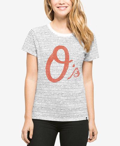 '47 Brand Baltimore Orioles MLB Women's Sparkle Stripe T-Shirt