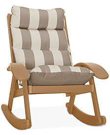 Coastal Outdoor Cushion Rocker, Quick Ship