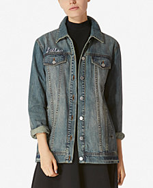 Avec Les Filles Follow Me Cotton Longline Denim Jacket