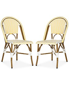 Wabyn Set of 2 Indoor/Outdoor Wicker Side Chairs, Quick Ship