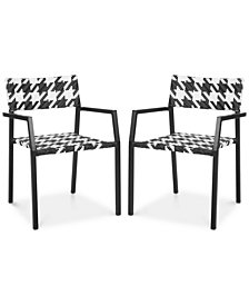 Sharee Set of 2 Outdoor Armchairs, Quick Ship