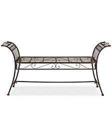 Dacie Outdoor Bench, Quick Ship