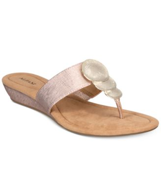 Image of Alfani Women's Fleurr Wedge Sandals, Created for Macy's