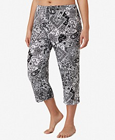 Plus Size Yours to Love Capri Pajama Pants