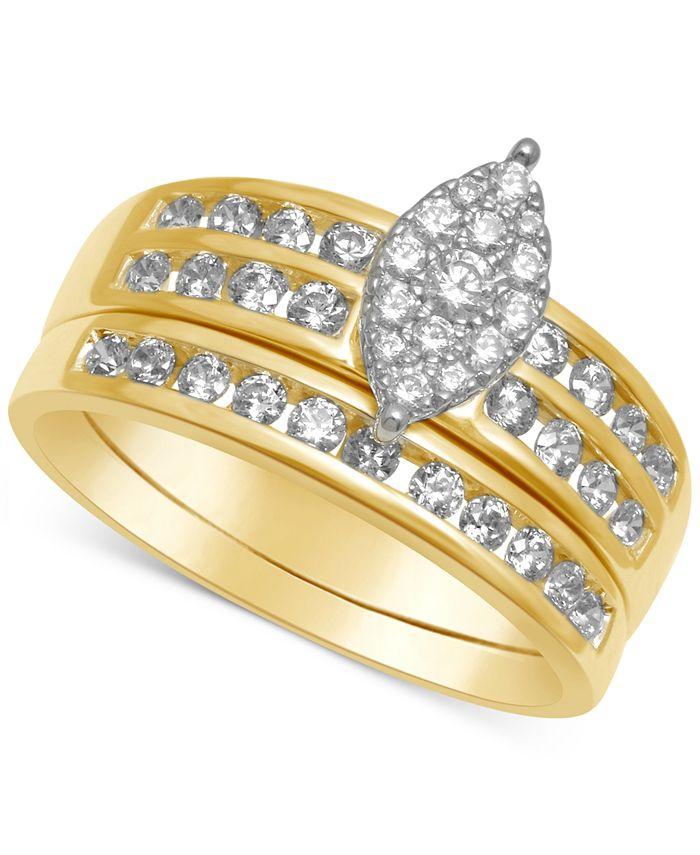 Macy's - Diamond Marquise-Cluster Bridal Set (3/4 ct. t.w.)
