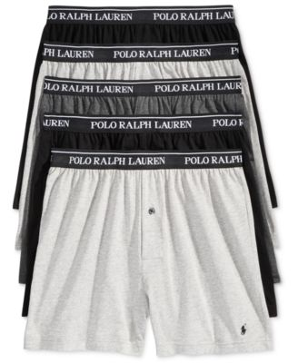 폴로 랄프로렌 Polo Ralph Lauren Mens 5-Pk. Classic Knit Boxer Briefs