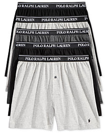 Polo Ralph Lauren Men's 5 Pack Cotton Knit Boxers