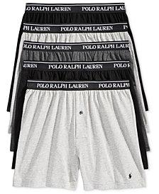 Polo Ralph Lauren Men's 5 Pack Cotton Knit Boxers