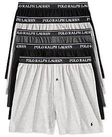 Polo Ralph Lauren Men's 5-Pk. Classic Knit Boxer Briefs