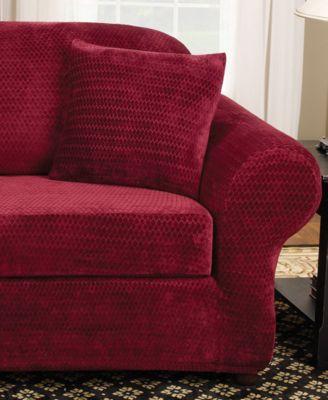 Stretch Royal Diamond 2 Piece Sofa Slipcover