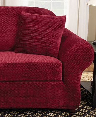 Sure Fit Stretch Royal Diamond 2 Piece Sofa Slipcover