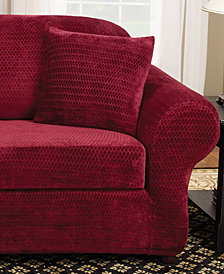 Sure Fit Stretch Royal Diamond 2-Piece Slipcover Collection