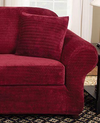 Sure Fit Stretch Royal Diamond 2 Piece Sofa Slipcover