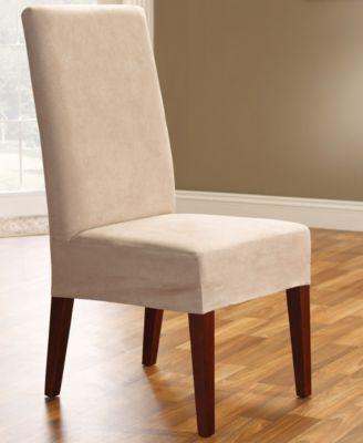 Sure Fit Soft Faux Suede Short Dining Room Chair Slipcover