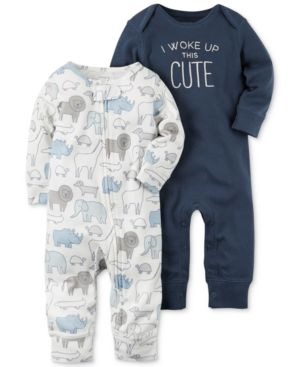 Carter's 2-Pk. I Woke Up This Cute Cotton Coveralls, Baby Boys (0-24 months) 4609770
