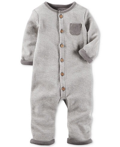 Carter's 1-Pc. French Terry Cotton Coverall, Baby Boys