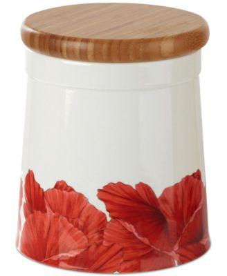 Botanic Garden Blooms Poppy 6.5  Storage Jar