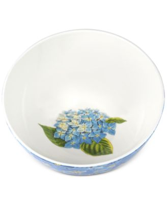 "Botanic Garden Blooms Hydrangea  7.5"" Serving Bowl"
