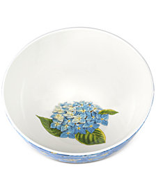 "Portmeirion Botanic Garden Blooms Hydrangea  7.5"" Serving Bowl"