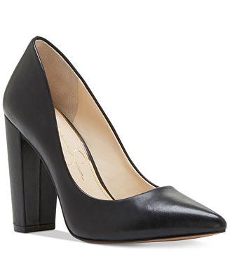 Jessica Simpson Tanysha Pointed Block-Heel Pumps