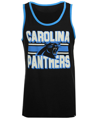 '47 Brand Men's Carolina Panthers Team Stripe Crosstown Tank