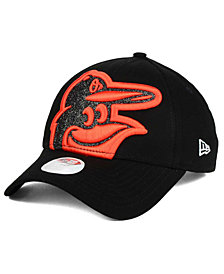 New Era Women's Baltimore Orioles Glitter Glam 9FORTY Strapback Cap