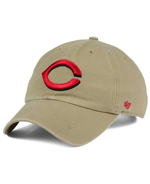 Cincinnati Reds Khaki CLEAN UP Cap