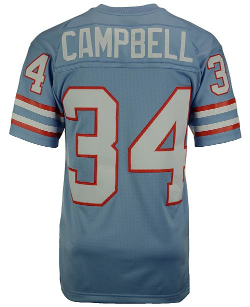 18c265a2 ... Mitchell & Ness Men's Earl Campbell Houston Oilers Replica Throwback  Jersey ...