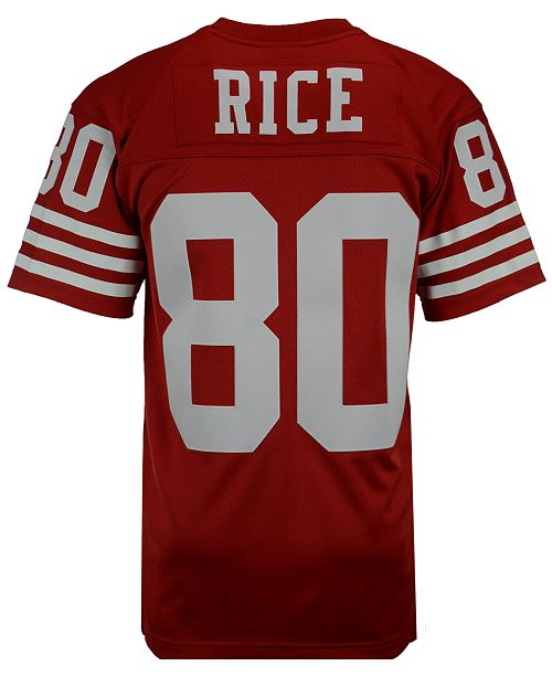 new style 5735b 778e6 Men's Jerry Rice San Francisco 49ers Replica Throwback Jersey