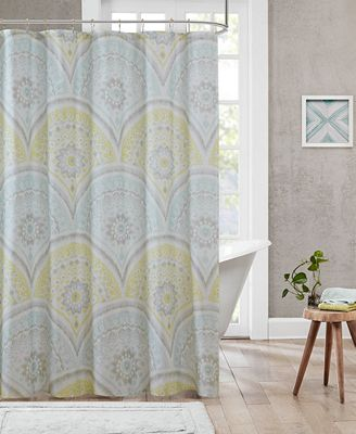 Urban Habitat Matti Cotton Medallion-Print Shower Curtain