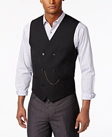 I.N.C. Men's Slim-Fit Double-Breasted Chain Vest, Created for Macy's