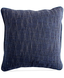 "DKNY PURE Space-Dyed 18"" Square Decorative Pillow"
