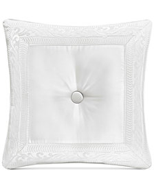 """J Queen New York Bianco Tufted 20"""" Square Decorative Pillow"""