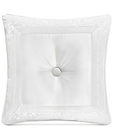 "J Queen New York Bianco Tufted 20"" Square Decorative Pillow"
