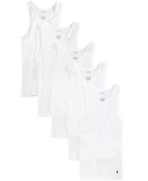 Polo Ralph Lauren Men's 5 Pack Cotton Tank Top