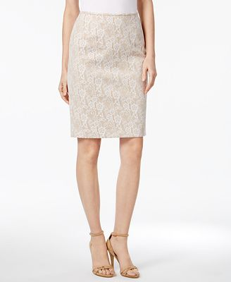 Calvin Klein Lace Pencil Skirt - Women - Macy's