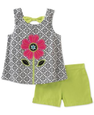 Image of Kids Headquarters 2-Pc. Graphic-Print Tank Top & Shorts Set, Toddler & Little Girls (2T-6X)