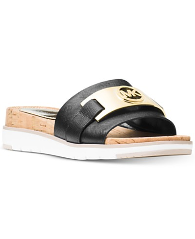 MICHAEL Michael Kors Warren Slide Flat Sandals